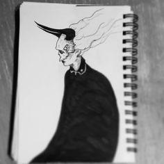 Day 5 - #skullhead . .  #seasonofthebadguysclub2 #inktober #inktober2017 #lifeformdrawingclub #lifeformdrawing #lowbrowwolfpack #lowbrowart #deathmetalart #hamburgart #skull #antichrist #woman #sketch #illustration #drawing #drawloween #mabsdrawlloweenclub #blackworknow #darkartist