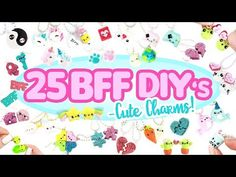 Here are 25 fun and cute BFF DIYs for you to try out! Here are all the parts of the video! Cute Polymer Clay, Polymer Clay Charms, Diy Clay, Cute Nails For Fall, Nails For Kids, Diy For Girls, Diy For Teens, Shopkins, Cute Nail Colors