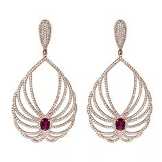 Carla Amorim earrings with rubellite