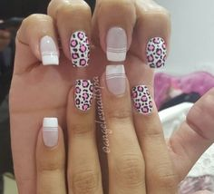 Uñas Crazy Nails, Love Nails, Pretty Nails, Birthday Nail Designs, Birthday Nails, Animal Nail Art, Finger, Leopard Nails, French Tip Nails