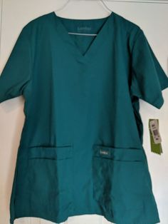 fc82780c387 Landau Womens Short Sleeve Workwear Pocket V Neck Scrubs Tunic Top. 8219  #fashion #