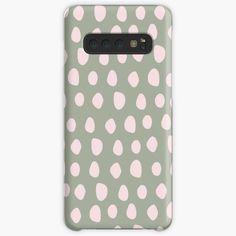 """Pale Pink Stones on Sage Green | Pattern"" Case & Skin for Samsung Galaxy by MenegaSabidussi | Redbubble"