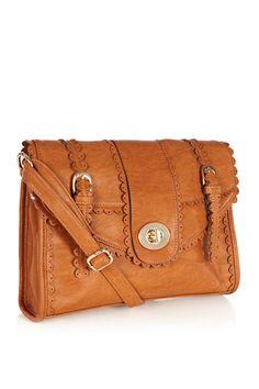 Scallop Satchel Bag