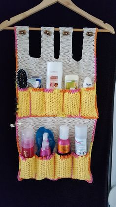 Crocheted 'bathroom-tidy'