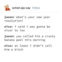 Nico's 2018 resolution.😂
