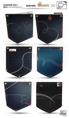 Denim Pocket Designs especially for Mens Jeans Pocket and also it is specially… Sewing Jeans, Men Trousers, Denim Ideas, Denim Jeans Men, Shoes With Jeans, Pocket Detail, Denim Fashion, Jeans Pocket, Couture
