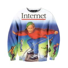 Internet Sweatshirt. It actually looks weird without the badly drawn sunglasses and shirt pattern! Hahah! I want this now!