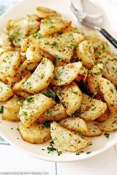 Italian Roasted Garlic and Parmesan Potatoes
