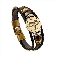 NEW Zodiac sign bracelets! Multi-layer 12 Zodiac Signs Constellation Astrology Leather Bracelets for Women and Men. Great gift for any astrology/zodiac sign lov Bracelets For Men, Bangle Bracelets, Bangles, Leather Bracelets, Leather Jewelry, Leather Cord, Leather Chain, Leather Accessories, Cowhide Leather