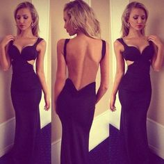 New Arrival 2015 Open Back Navy Blue Chiffon Long Prom Dress,Off the Shoulder Sexy Backless Prom Dress,Custom Made Mermaid Prom Dress,Celebrity Dress,Graduation Dress