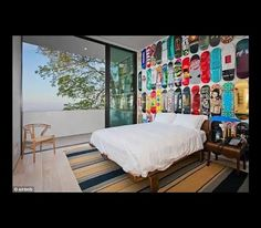 Skateboard Headboard maybe jack will stay in his bed if we make him a skateboard