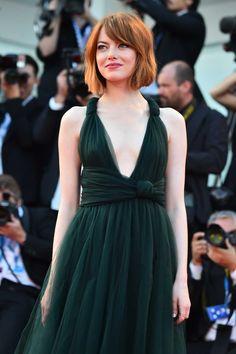 Emma Stone trägt Longbob