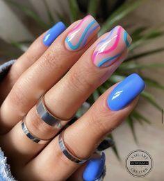 Neon Acrylic Nails, Acrylic Nails Coffin Short, Almond Acrylic Nails, Square Acrylic Nails, Neon Nails, Yellow Nails, Swag Nails, Pastel Pink Nails, Neon Green Nails