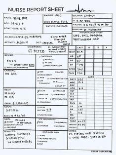 Nursing Assessment, Icu Nursing, Nursing Tips, Surgical Nursing, Pharmacology Nursing, Nurse Brain Sheet, Brain Sheets For Nurses, Nurse Report Sheet, Nursing School Notes