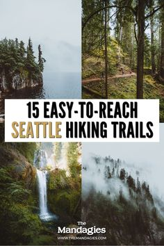Looking for some epic Washington hiking trails to explore, but don't want to venture too far from the city? We've got the post for you! We're giving you the best Seattle hiking trails to take this weekend. This post includes classic trails like Rattlesnake Ledge and Mount Si, but also lesser-known ones like Heather Lake and Kendall Katwalk. Save this post for more PNW adventures!