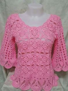 See That Beautiful Blouse All Crafted In Crochet Yarn <3 ..... http://www.crochetyarnstore.com/2016/04/see-that-beautiful-blouse-all-crafted.html