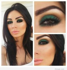 Smokey green eyes style