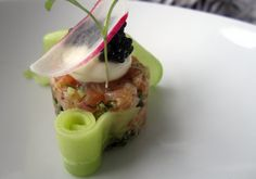 Salmon Tartare by Simon Hulstone