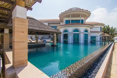 Dh59m Dubai villa has Palm Jumeirah's biggest private swimming pool with two Cape Reed structures!