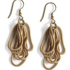 Chain Loop Gold Earrings