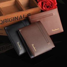 Newest 2017 Mens Wallet Purses Fashion Genuine Leather Mens Card Wallets Carteira Masculina Billeteras Porte Monnaie Monedero