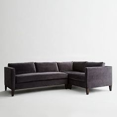 I want this!!!!! Dunham Down-Filled 3-Piece Sectional - Box Cushion #westelm