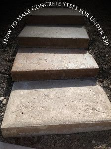 How to Make Concrete Steps for Under 30$! These look amazing in your landscape and they are so easy!