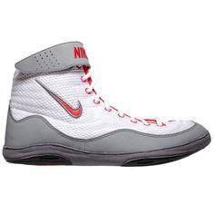 half off aa898 17bf5 Nike Inflict 3 (White   Uni Red   Grey) Nike Wrestling Shoes, Wrestling.  Blue Chip Wrestling