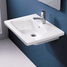 Bissonnet VEO Bathroom Ceramic Sink 2ft sink wall mount