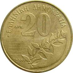 GRECIA / 2000 / 20 DRACMA - SOLOMOS Madrid, Coins, Personalized Items, Silver, Gold, Old Coins, Hanging Medals, Coining, Greece