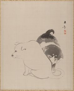 Kawabata Gyokushō (Japanese, 1842–1913). 狗児図 A Pair of Puppies, 1868. The Metropolitan Museum of Art, New York. Charles Stewart Smith Collection, Gift of Mrs. Charles Stewart Smith, Charles Stewart Smith Jr., and Howard Caswell Smith, in memory of Charles Stewart Smith, 1914 (14.76.61.89).