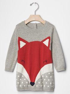Fox sweater dress