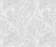 striped_feather_GRAY fabric by crystal_walen on Spoonflower - custom fabric