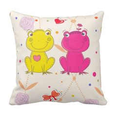 Froggy Love Pillow