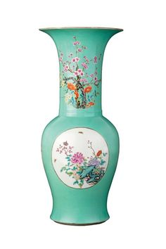 """""""A large Chinese turquoise-ground Yen-yen vase"""" by Unknown (Lot Number 169) 