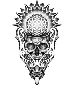 To understand culture is to understand the selfTo understand the self is to transcend culture Mandala Tattoo Design, Tattoo Design Drawings, Skull Tattoo Design, Tattoo Sleeve Designs, Skull Tattoos, Tattoo Sketches, Body Art Tattoos, Skull Design, Black Tattoos