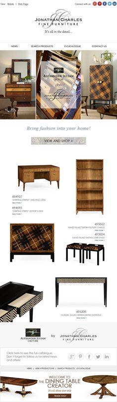 Alexander Julian - Bring fashion into your home.  #jonathancharles #Furniture #InteriorDesign #decorex #hpmkt #Alexander #Julian