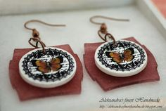 JRC#071 Entry #30 Aleksandra photo #4 Botanical Butterfly Earrings