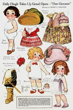 "Dolly Dingle Takes Up Grand Opera-""Don Giovanni""- by Grace G. Drayton-Dolly Dingle Paper Dolls"