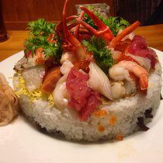 A cool birthday cake....Sushi!!!