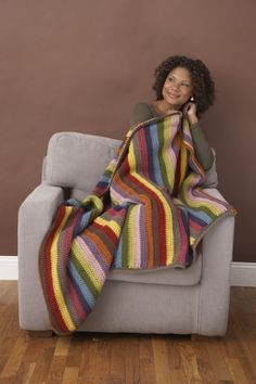 this cute throw makes me want to crochet