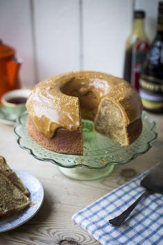 How to make an Irish Coffee Swirl Bundt Cake...Sweet, moist and very delicious! | DonalSkehan.com