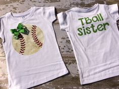 TBall Sister T-Shirt Personalized with Your Team Colors