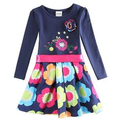 Girls dress Winter dress for girls Novatx children kids clothing floral princess kids dresses Christmas costumes for girls H5868 #>=#>=#>=#>=#> Click on the pin to check out discount price, color, size, shipping, etc. Save and like it!
