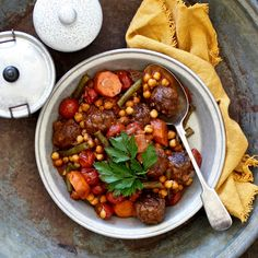 MOROCCAN LAMB MEATBALL & CHICKPEA TAGINE. For this dish we've created...