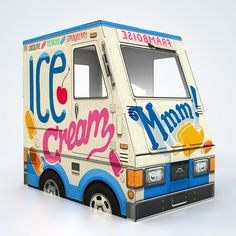 OTO Ice Cream Truck  Huge cardboard food truck for by FamousOTO, $65.00