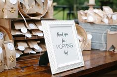 Treat your guests! Venue:  Sainte Terre, Benton, LA Design: @ham03a , Sainte Terre Photography: Christi Martin  #popcornbar #weddingfavors #louisianaweddings #shreveportweddings