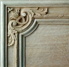 Agrell Architectural Carving - hand carved detail French door panel