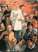 """St. Lorenzo Ruiz, missionary and first Filipino saint, pray for us! Before his martyrdom Ruiz reportedly said, """"I am a Catholic and wholeheartedly accept death for the Lord; if I have a thousand lives, all of them I will offer to Him."""""""