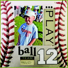 scrapbook baseball page layout sports